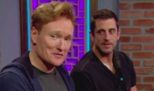 Aaron Rodgers and His Broken Collarbone Played Video Games With Conan O'Brien (VIDEO)