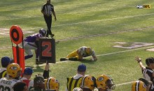QB Aaron Rodgers Goes Down With An Injury & Gets Carted Off Field (VIDEO)