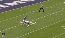 Watch Bears' Josh Bellamy Deliver A Nut Shot With His Helmet On A Ravens Punt Returner (VIDEO)