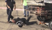 Insane Video: Race Car Drivers Fight, Then Get Tasered And Arrested In Middle Of Track (Video)