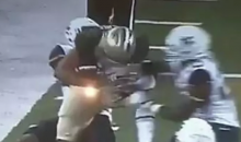 West Virginia DB Corey Winfield Punched Baylor Player In The Head, Causes Fumble (VIDEO)