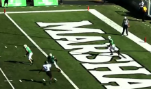 Watch Marshall's Kaare Vedvik Punt A Ball From His Own End Zone To The Opposite End Zone (VIDEO)