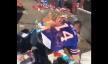 Bills Fan Sets Himself On Fire After Jumping On Table Covered In Flames (VIDEO)