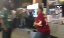 Redskins Fan Drops An Eagles Fan With One Punch During MNF (VIDEO)
