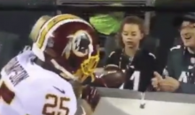 Young Eagles Fan Refused To Take Football After Redskins Player Tried To Give It To Her During MNF (VIDEO)