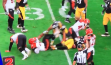 Just Seconds Into The Game & Vontaze Burfict is Already Kicking Players (VIDEO)