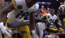 JuJu Smith-Schuster Locks Up His Bike After 97-Yard TD Catch (VIDEO)