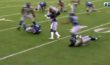 Landon Collins Delivered A WWE-Style Spine Buster To Seahawks WR Tyler Lockett During Game (VIDEO)