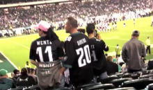 Disturbing Eagles Fans Caught Digging Around In Each Other's Butts During Game (VIDEO)