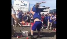 Bills Fan Demolishes His Girlfriend By Slamming Her Through Table (VIDEO)
