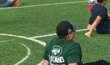 New York Jets Fan Violates Several Flag Codes While Wearing 'Stand For the National Anthem' Tee (PIC)