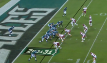 Eagles First 5 Plays Included 4 Penalties & A Carson Wentz Interception (VIDEO)