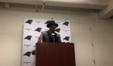 Cam Newton Claims His Comment Was 'Sarcasm' & Meant As a Compliment To Female Reporter (VIDEO)