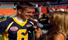 Watch A Young Aaron Rodgers Shoot His Shot At Marisa Miller During 2005 College Football All-Star Challenge (VIDEO)