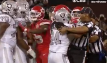 Oakland Raiders RB Marshawn Lynch Pushed An Official; Gets Ejected (VIDEO)