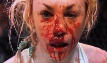 MMA Fighter Heather Hardy Got Kicked In The Nose & Bled EVERYWHERE (VIDEO)