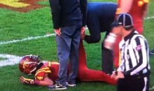 Iowa State Defender's Fake Cramp Somehow Fooled Every Ref on The Field (VIDEO)