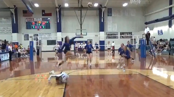 high school volleyball player autumn finney incredible volleyball play sports play of the year
