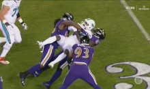 Jarvis Landry Got Taken To Suplex City By The Ravens Defense (VIDEO)