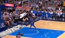 Warriors Rookie Jordan Bell Throws Down Self Alley Oop Off Glass During Blowout, Enraging Mavericks (VIDEO)