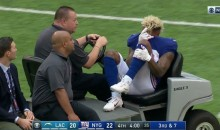 Odell Beckham Jr. Gets Carted Off Field After Terrible Looking Ankle Injury (VIDEO)