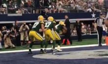 Watch The Packers Do A Hilarious Bobsled Celebration After Touchdown (VIDEO)