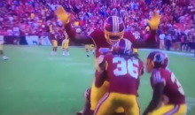Redskins Celebrated Their Win By Frisking Teammate & Arresting Him (VIDEO)