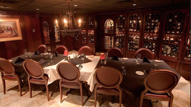 The private wine cellar dining room at St. Elmo's, a.k.a. The Manning Room.
