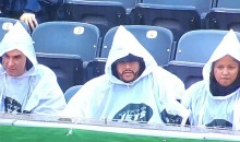 White Ponchos Given Out At Jets Game Makes MetLife Stadium Look Eerily Similar To A KKK Rally