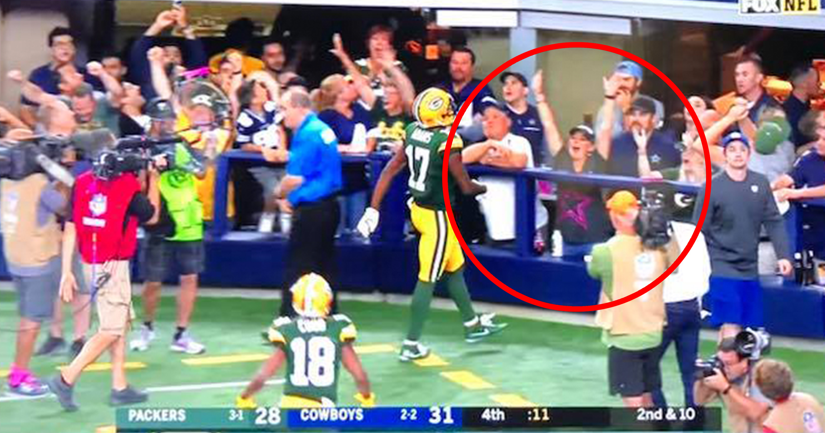 901499c0 Multiple Dallas Cowboys Fans Caught Cheering After Packers Game ...