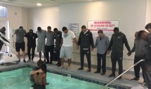 Eagles WR Marcus Johnson Gets Baptized In The Team's Hotel Pool Before TNF Game (PIC)