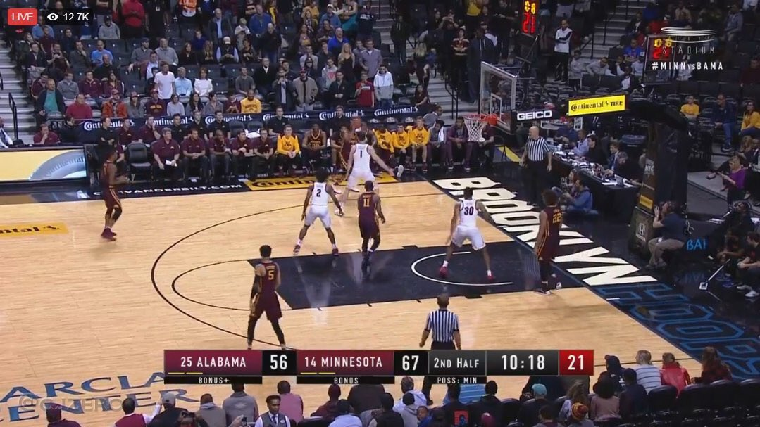 Alabama plays 3-on-5 basketball after fight, ejections and injury