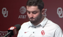Baker Mayfield Cries As He Discusses His Punishment For Grabbing His Junk (VIDEO)
