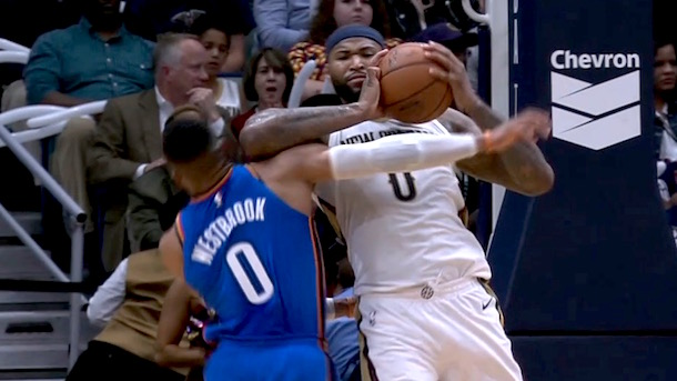 Demarcus Cousins Ejected for Elbow on Russell Westbrook