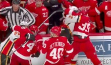 Flames and Red Wings Give Us a Good Old-Fashioned Hockey Brawl (VIDEO)