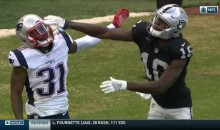 Raiders' Johnny Holton Smacks A Patriots Player Right In Front of An Official  (VIDEO)