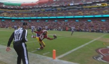 Redskins WR Maurice Harris Made A Ridiculous 1-Handed Catch Against The Vikings (VIDEO)