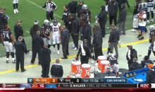 Marshawn Lynch Had To Escort Aqib Talib Off The Field Following His Ejection For Fighting (VIDEO)