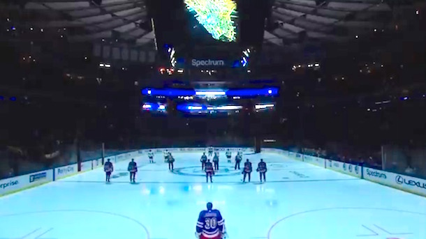 New York Rangers Moment of Silence New York Terror Attack