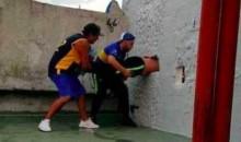 Boca Juniors Fan Tries To Sneak Into Stadium, Gets Stuck In Wall Instead  (VIDEO + TWEET)