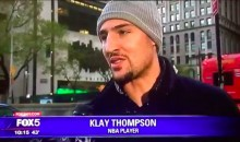Klay Thompson Took Part In a Hilariously Random Street Interview on Local News (VIDEO)