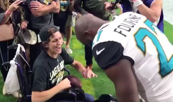 Leonard Fournette Made a Jags Fan's Day With a Truly Special Visit