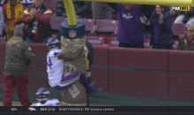 Vikings' Stefon Diggs Celebrated TD By Bear Hugging The Goalpost (VIDEO)