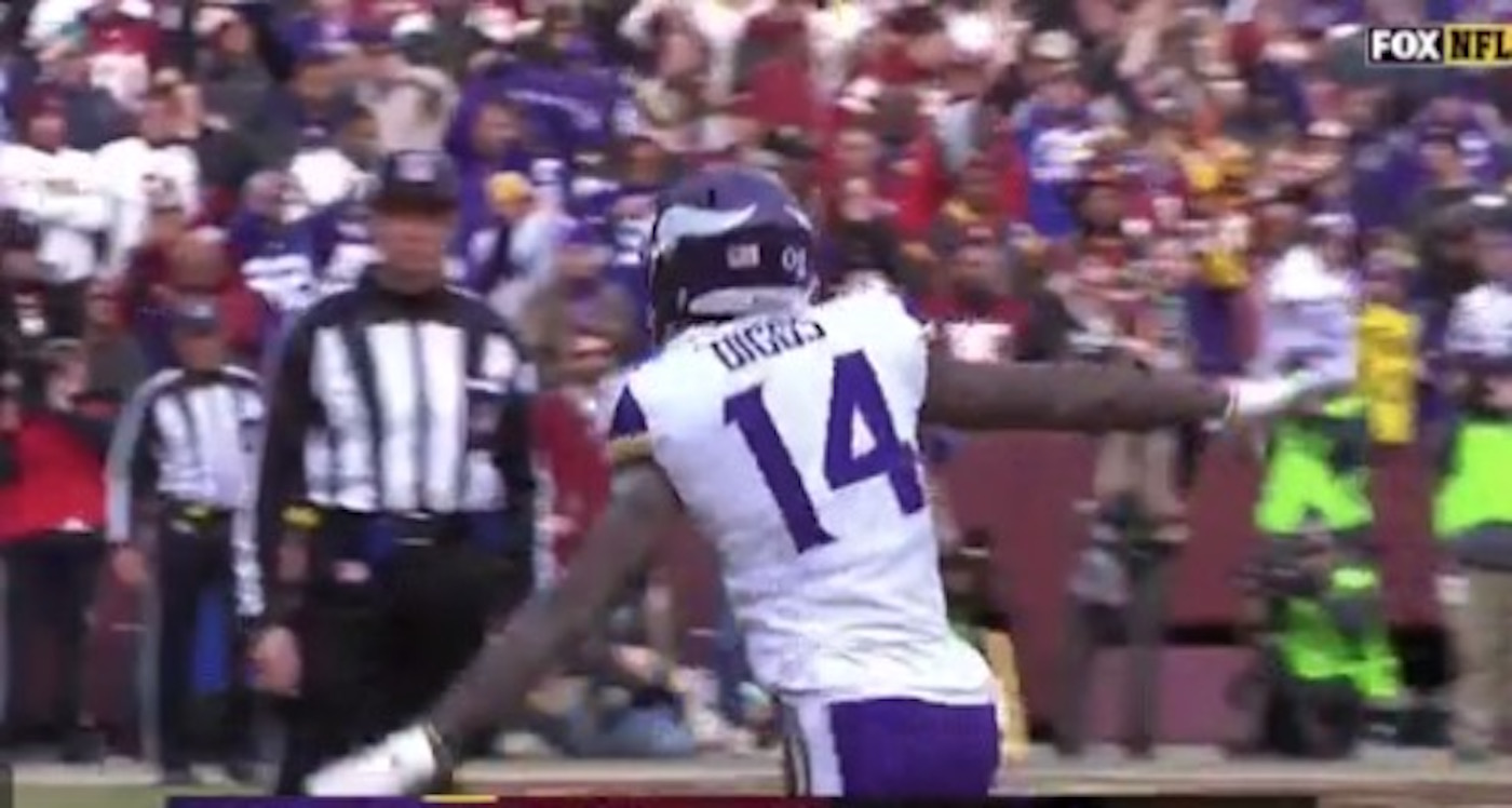 Vikings Stefon Diggs Being Accused of Doing A 9 11 Plane Crash