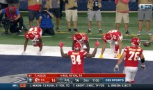 Chiefs Celebrate TD Against Cowboys With A Potato Sack Race (VIDEO)