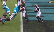 Watch Cam Newton Sky High & Dunk on A Falcons Defender For The Touchdown (VIDEO)