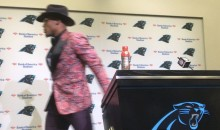 Cam Newton Hilariously Faked Out The Media By Pretending To Storm Out of Presser (VIDEO)
