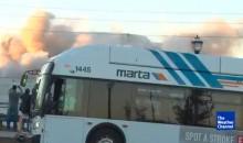 Cameraman Has Hilarious NSFW Reaction to MARTA Bus Blocking His Shot of Georgia Dome Demolition (VIDEO)