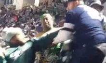 Cowboys & Eagles Fans Got A Little Rowdy In The Stands During SNF (VIDEO)