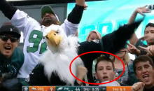 Philadelphia Eagles Fan Mimics Fellatio on Live TV During Game Against Broncos (VIDEO)